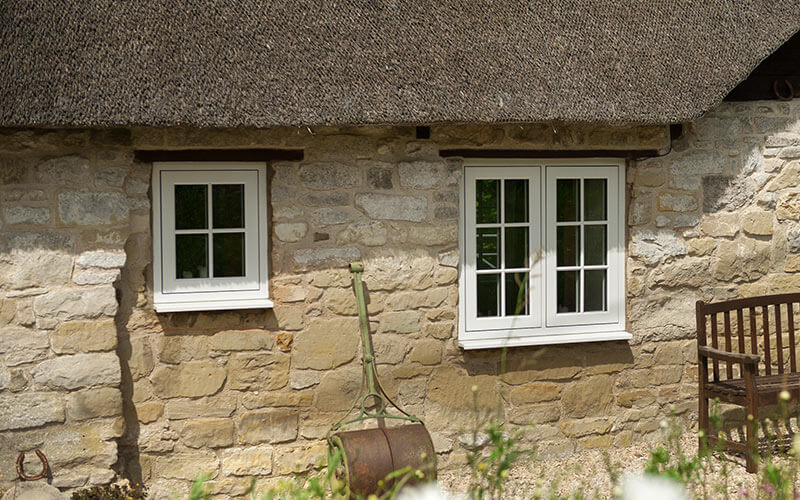 Flush window installation on a thatched cottage