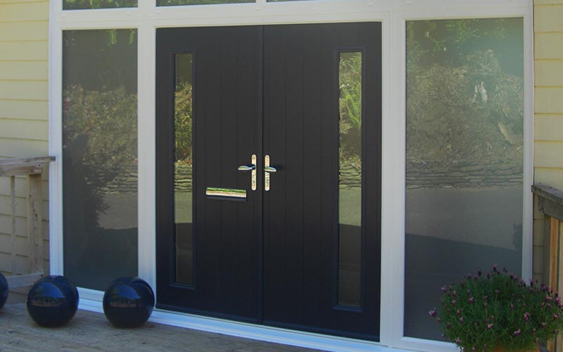 Dual black composite door