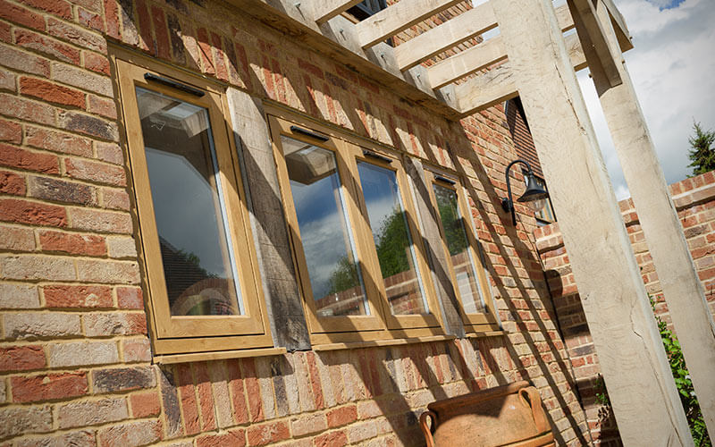 Oak effect Residence Collection flush sash windows