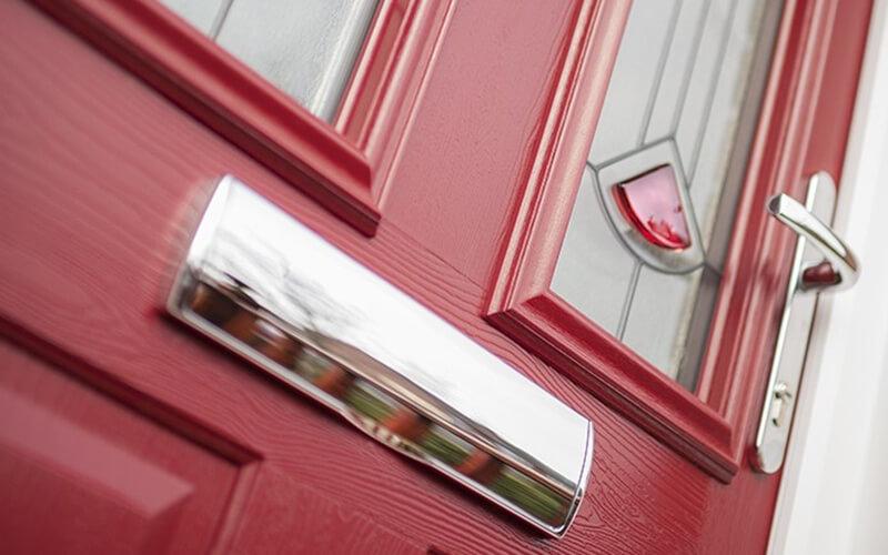 Red Solidor Composite door