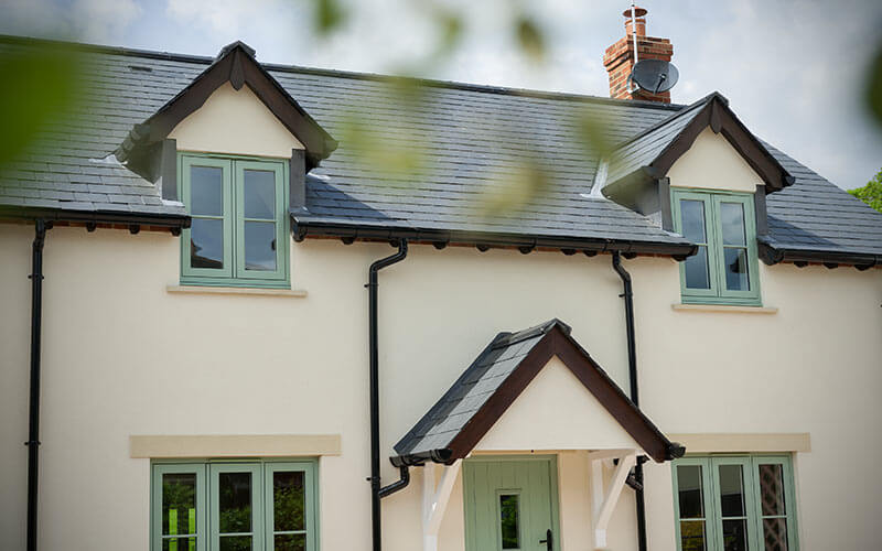 Residence Collection flush sash Chartwell Green