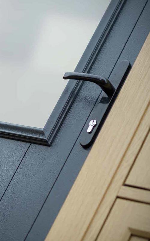 Close up of a Solidor composite door