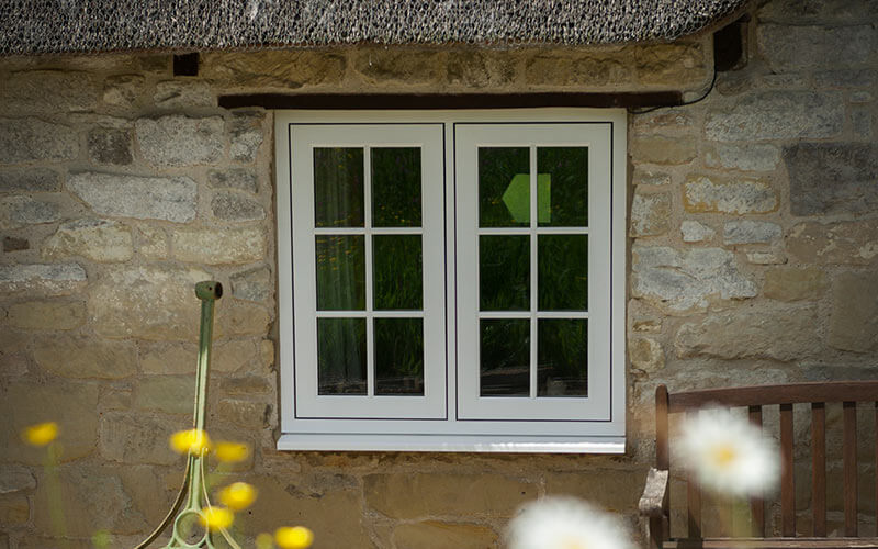 White flush sash Residence Collection window